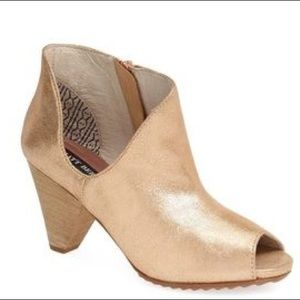 Matt Bernson | Metallic Gold Asymmetrical Bootie
